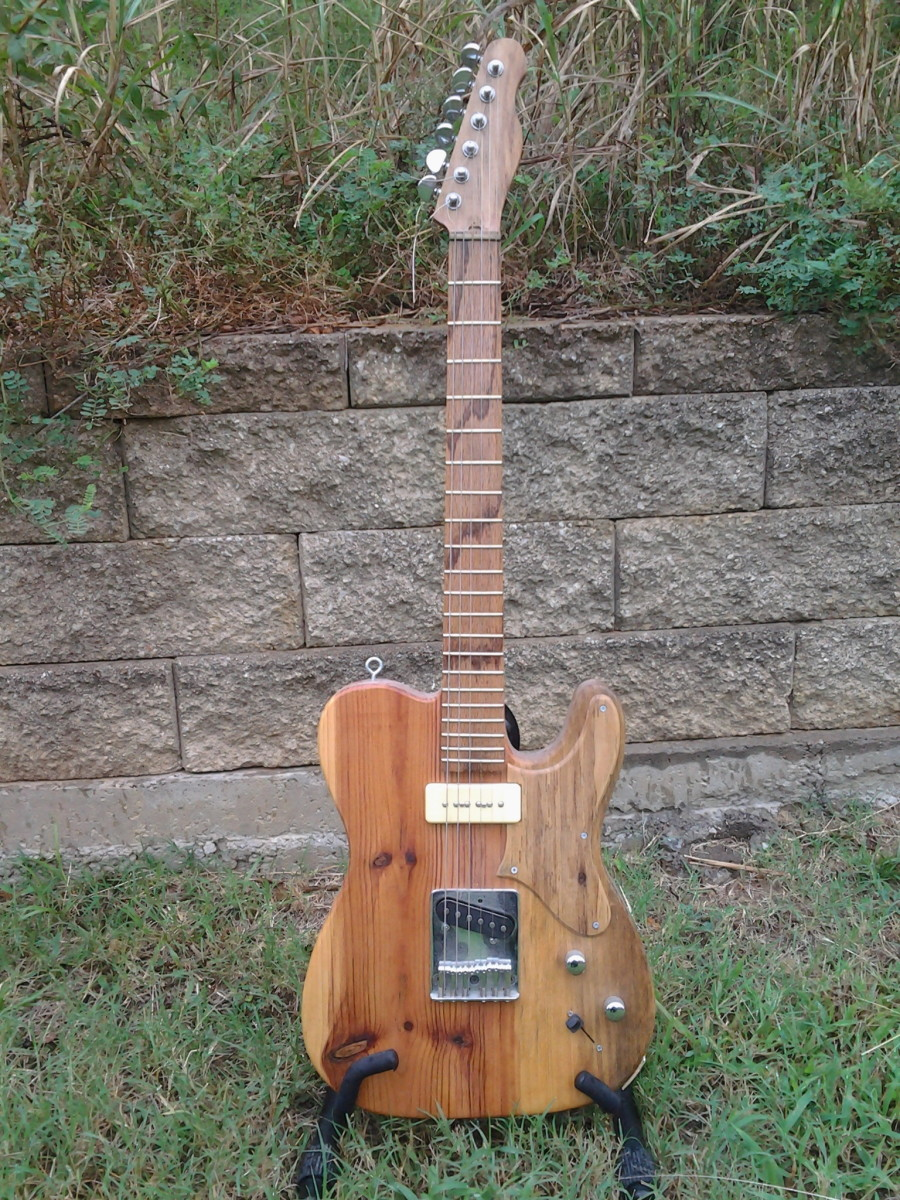 Building an electric guitar from recycled material for less than $50 Part 1