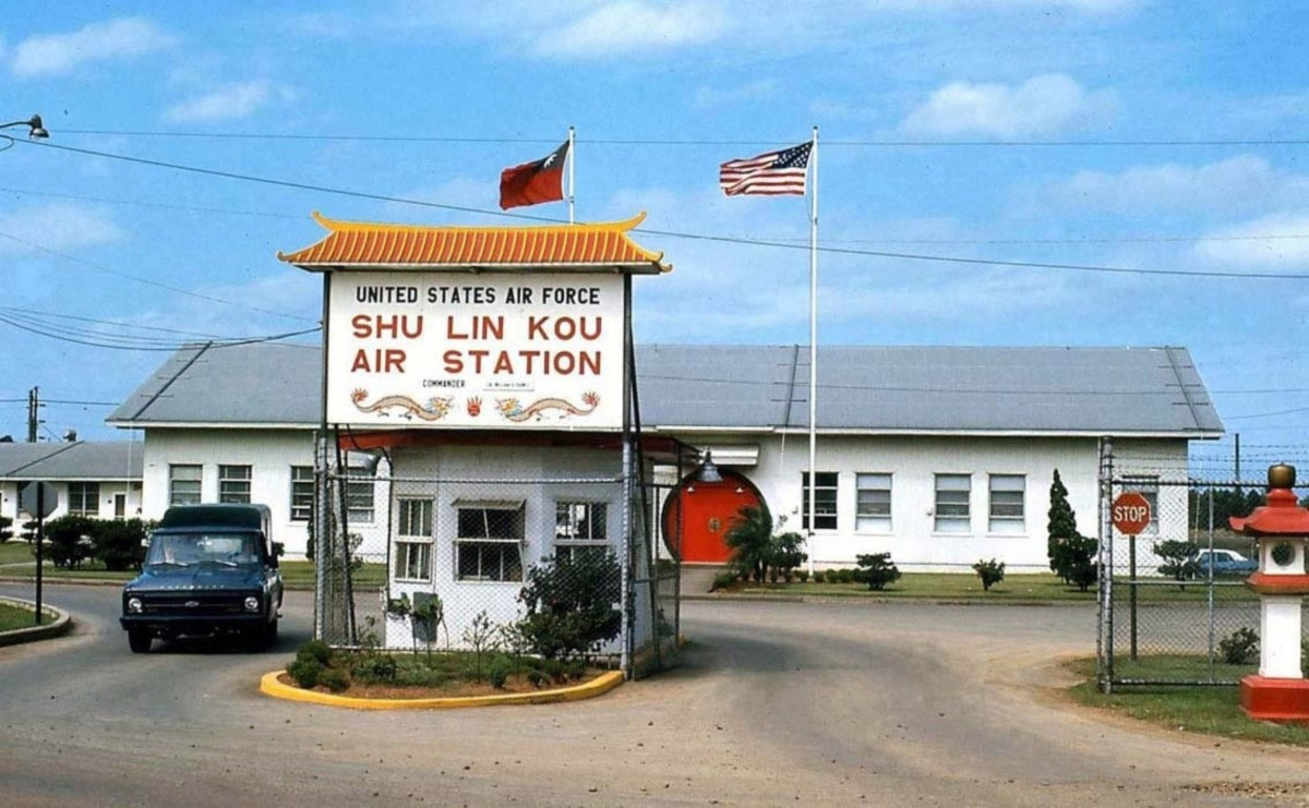 Front gate of the Shulinkou Air Force Station where I was stationed.
