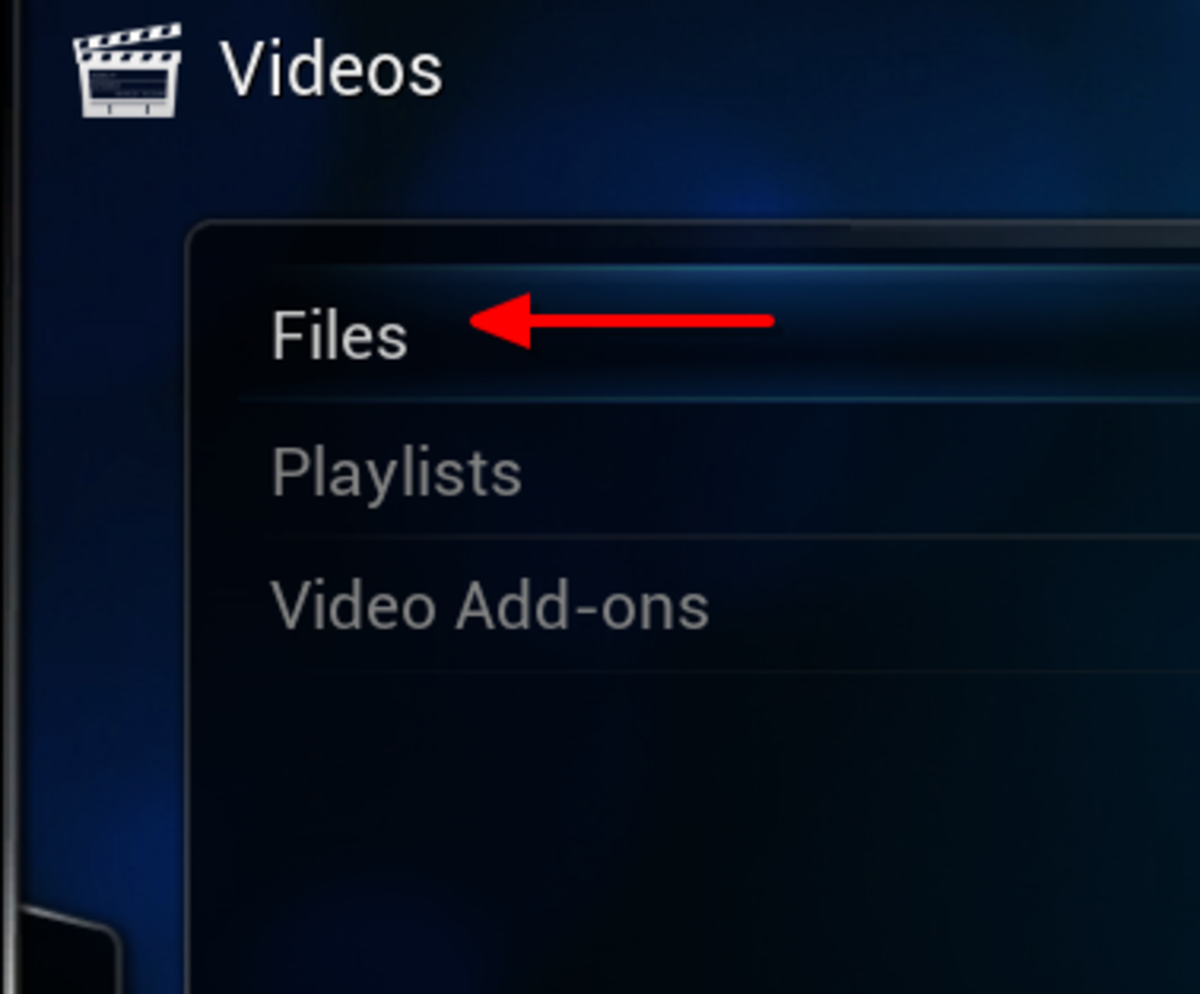 "Select ""Files"""