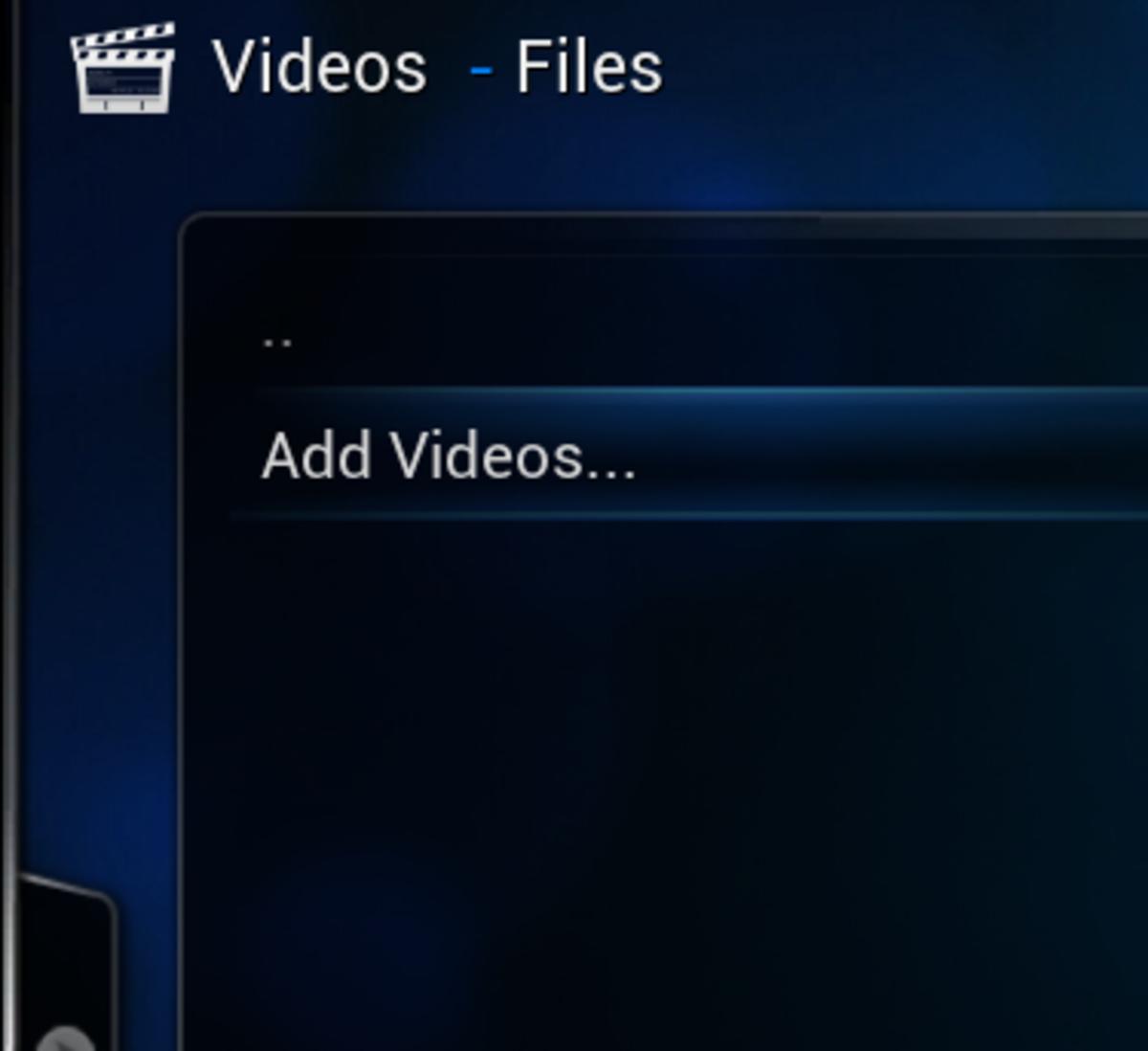 """Click """"Add Videos"""""""