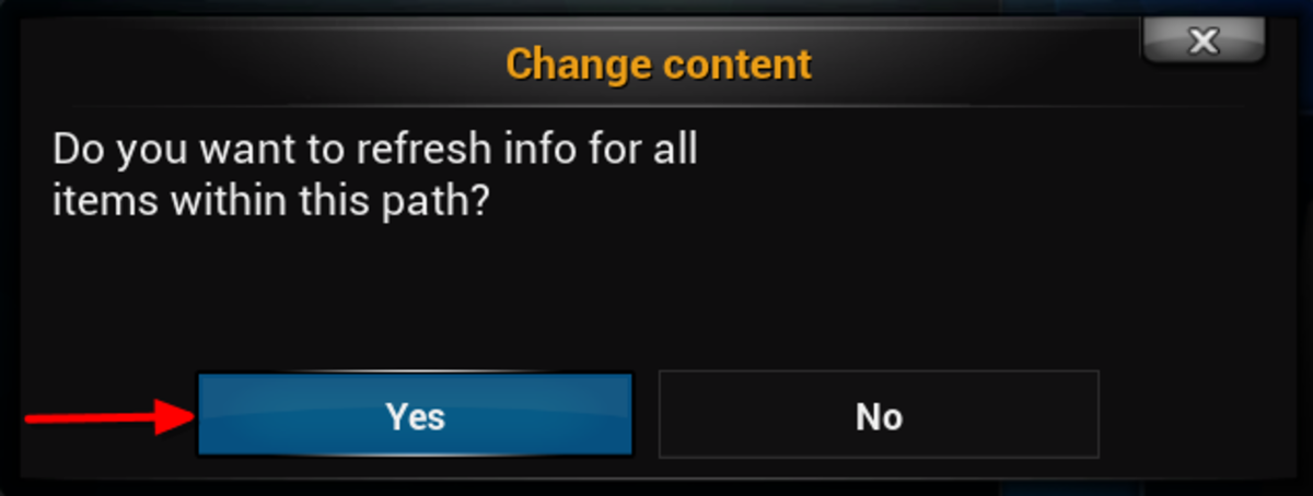 """When asked to refresh information click """"Yes"""""""