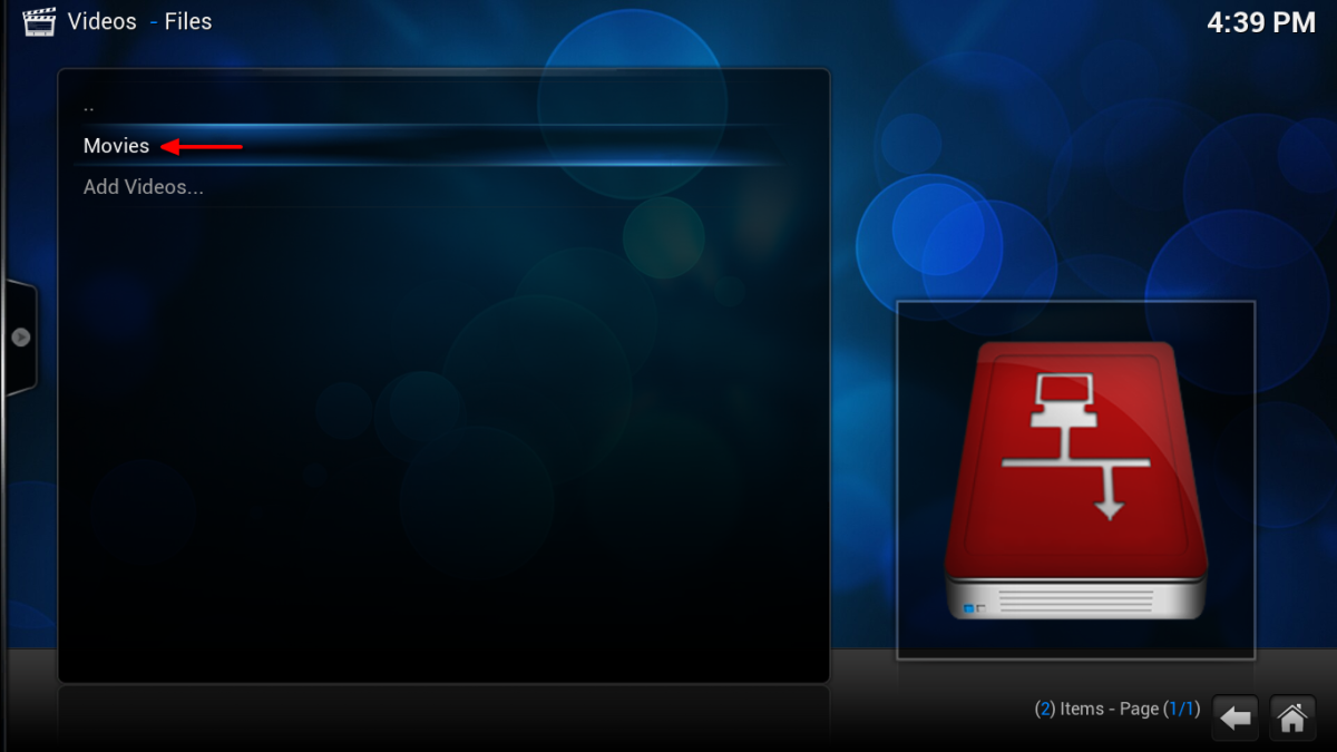 Congratulations! Your media is now added to Kodi. The processes can be repeated for multiple sources (such as a Movies and a TV folder).