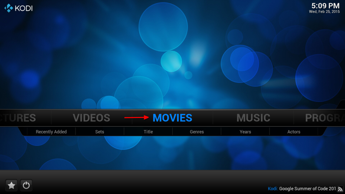 "To view your movies select ""Movies"" from the home screen."
