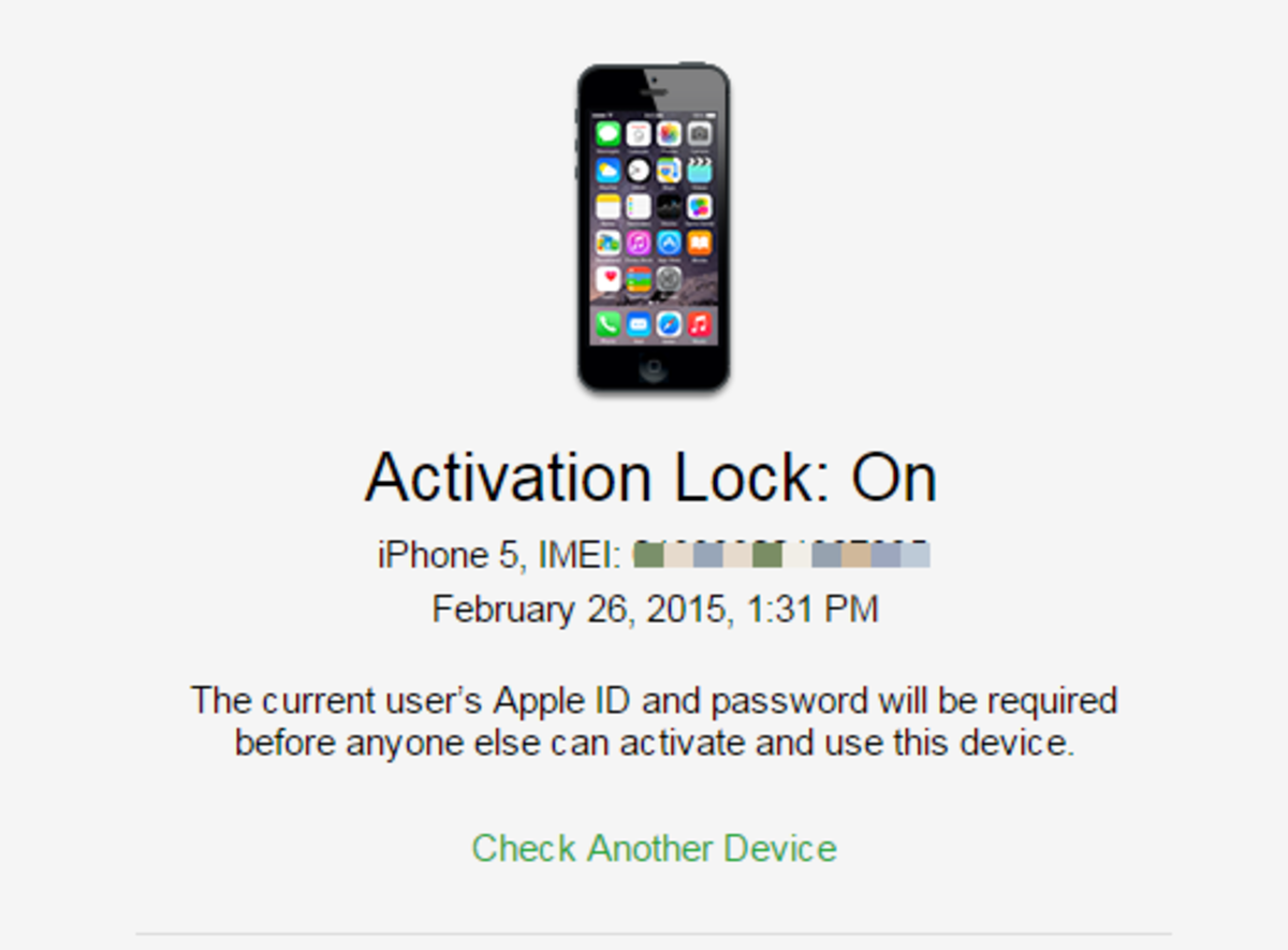 If an Apple ID is associated with the iPhone, the Activation Status will indicate as ON