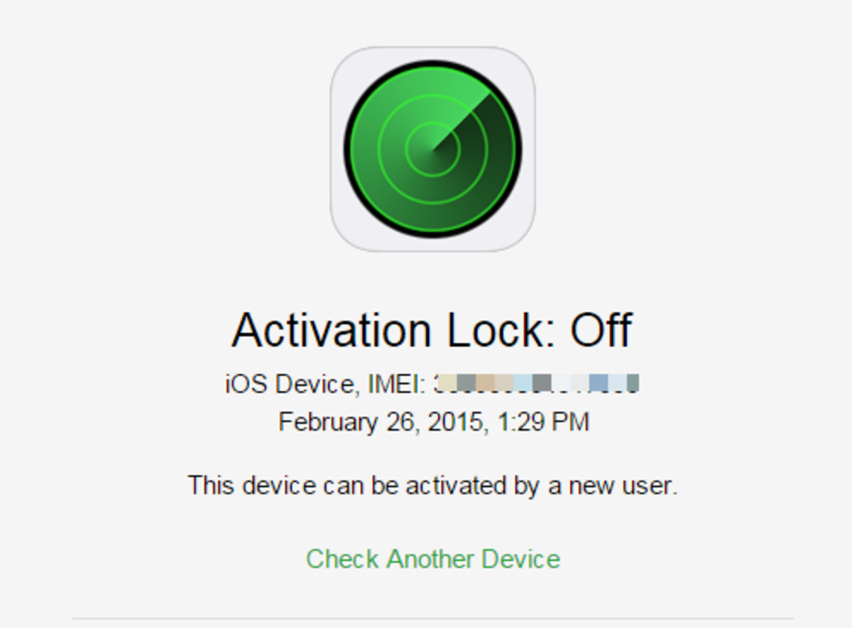 If an Apple ID is associated with the iPhone, the Activation Status will indicate as OFF