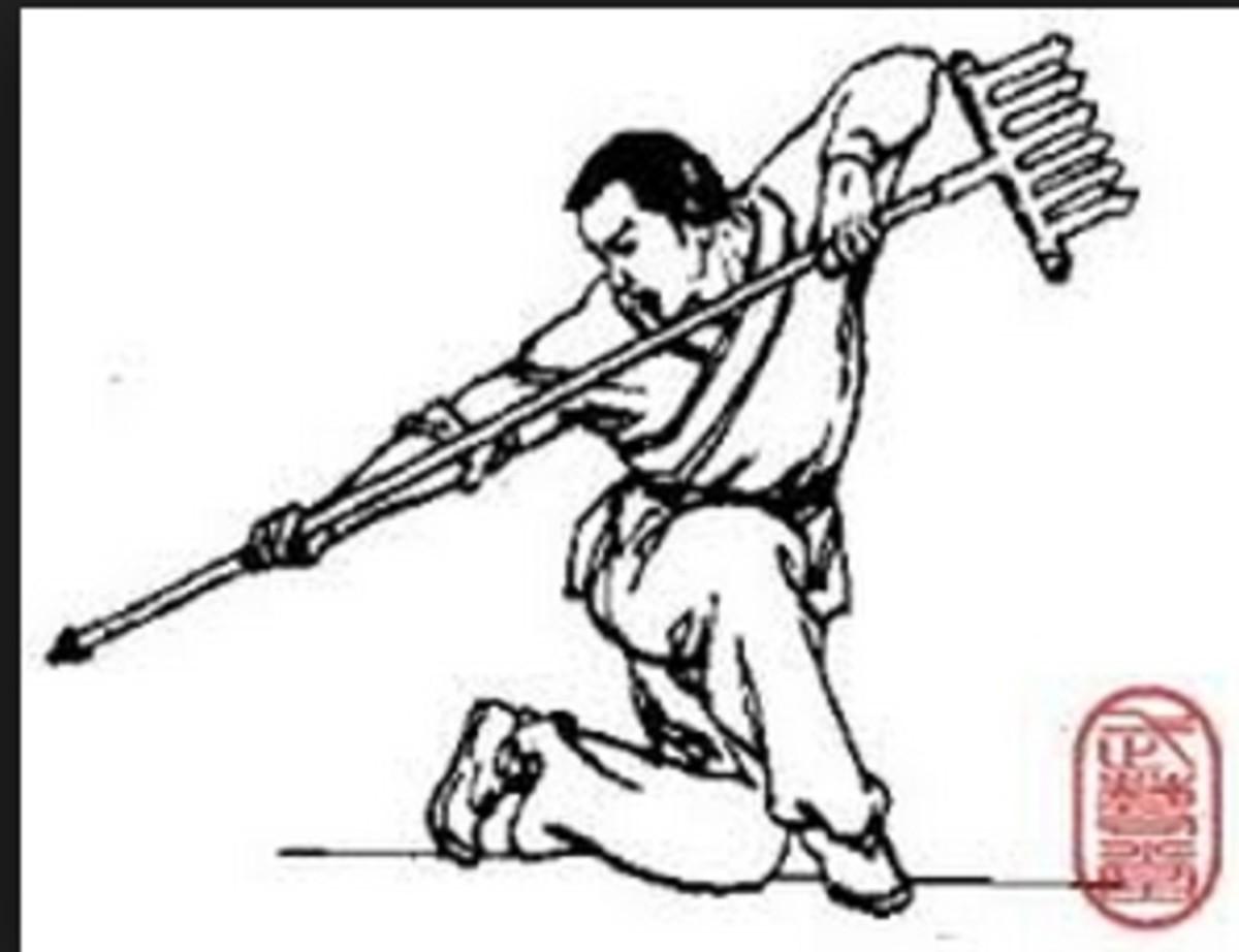 Use of  a rake in war
