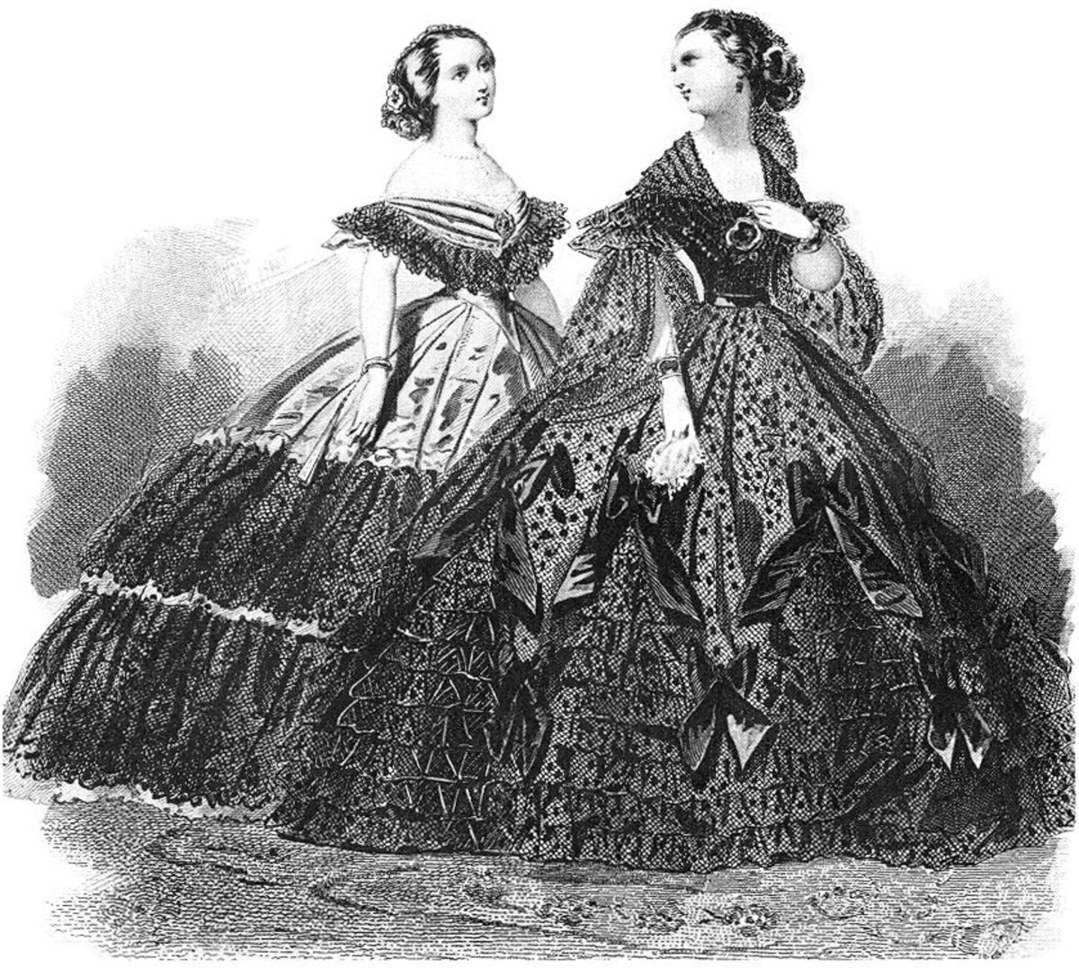 Crinoline - These outfits may be kind of pretty but underneath was an actual cage.