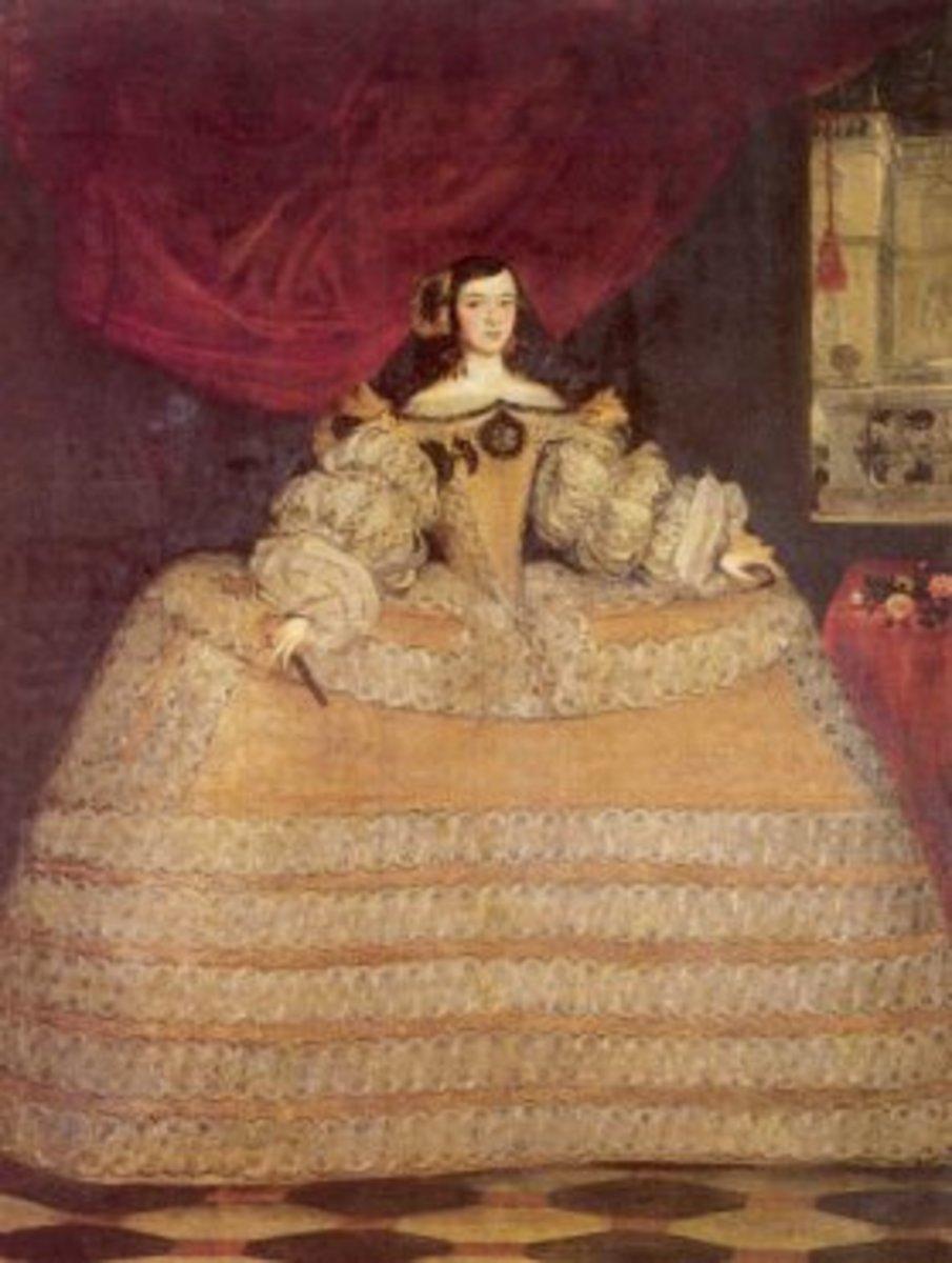 Woman wearing panniers