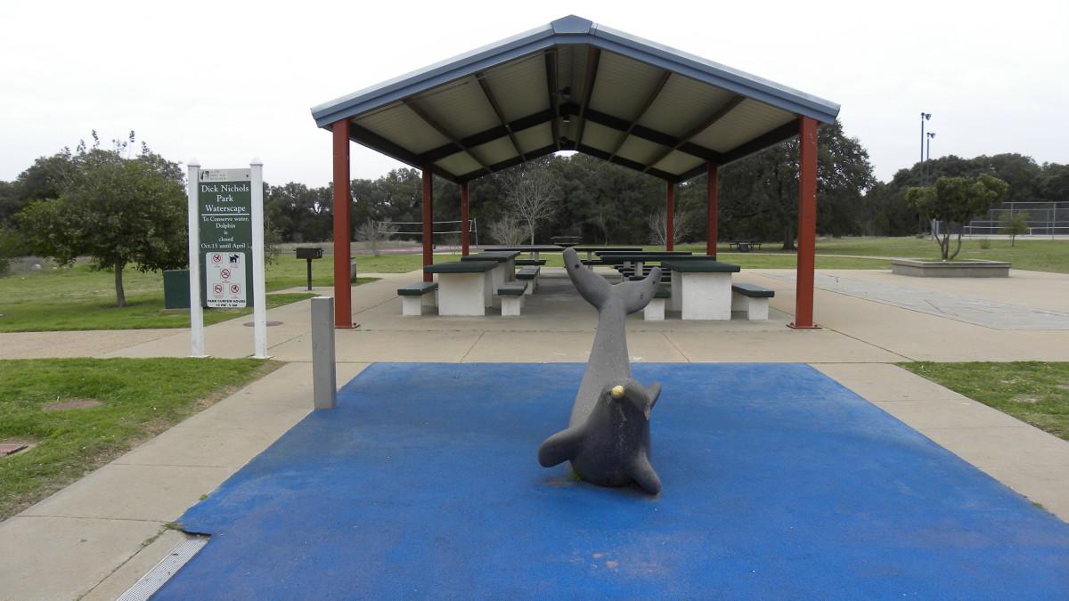 Water splash pad  Dick Nichols Park Austin TX
