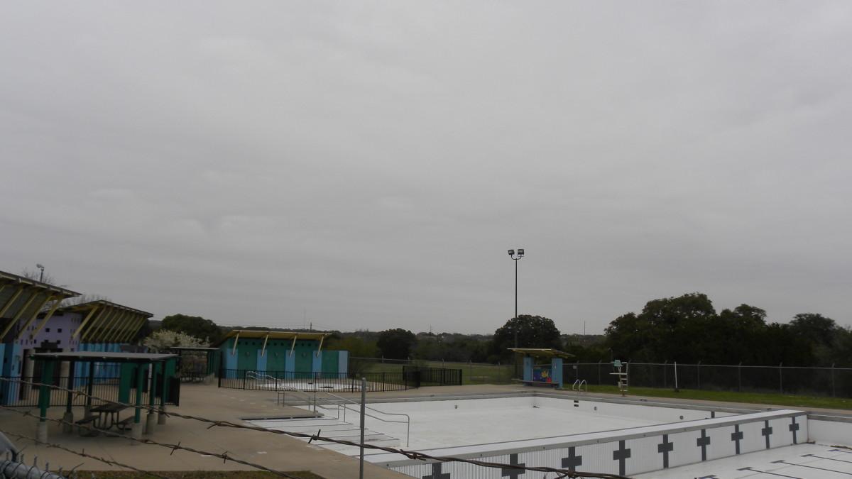 Swimming pool at  Dick Nichols Park Austin TX