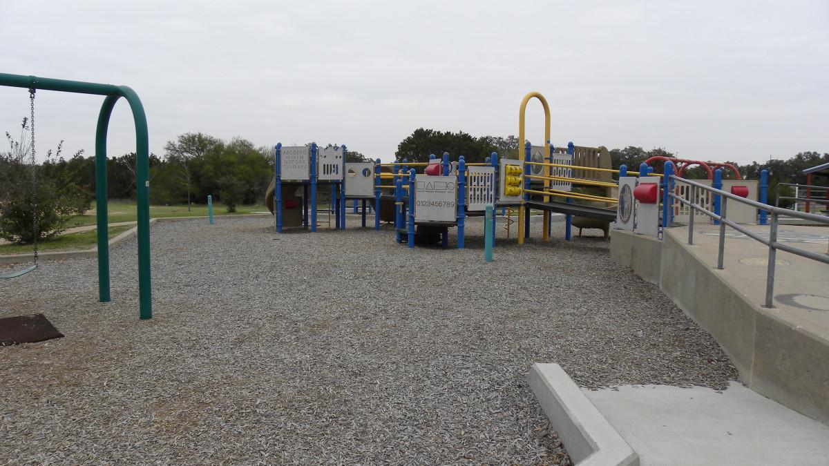 Playground area  Dick Nichols Park Austin TX