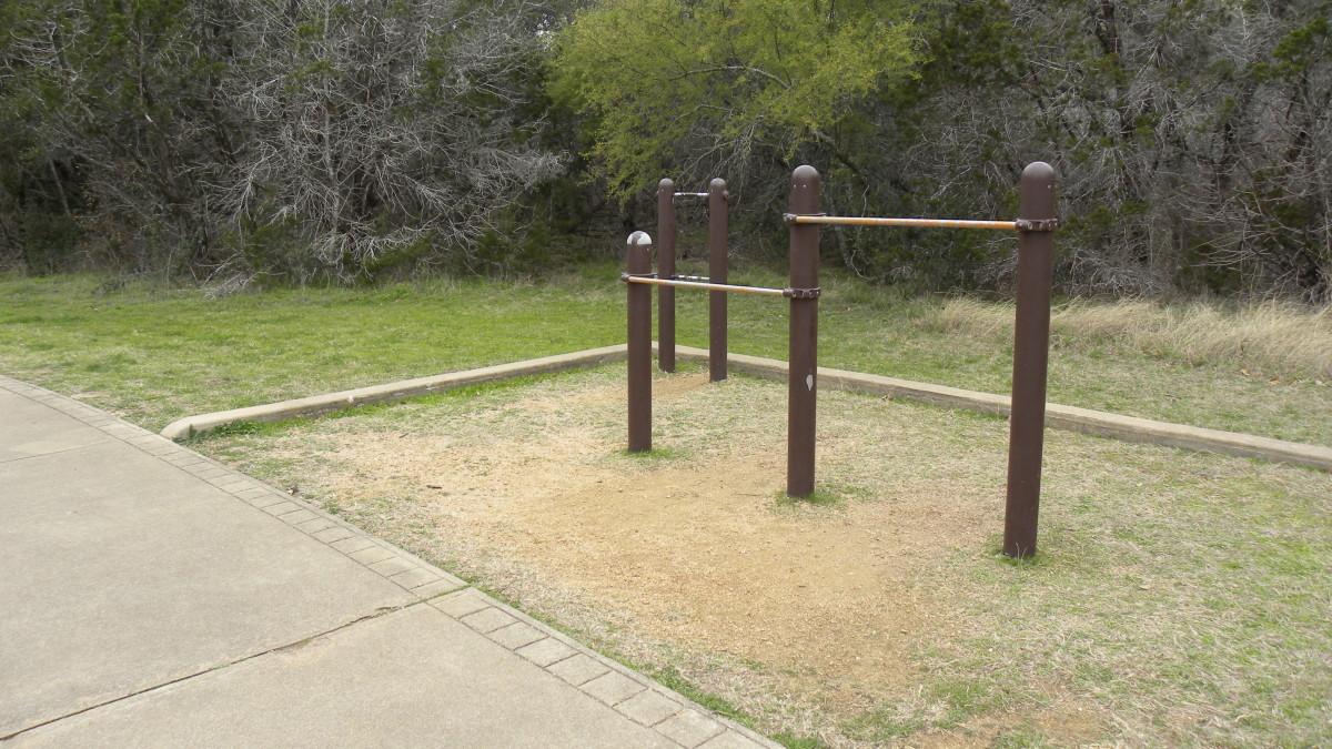 Exercise stations  Dick Nichols Park Austin TX
