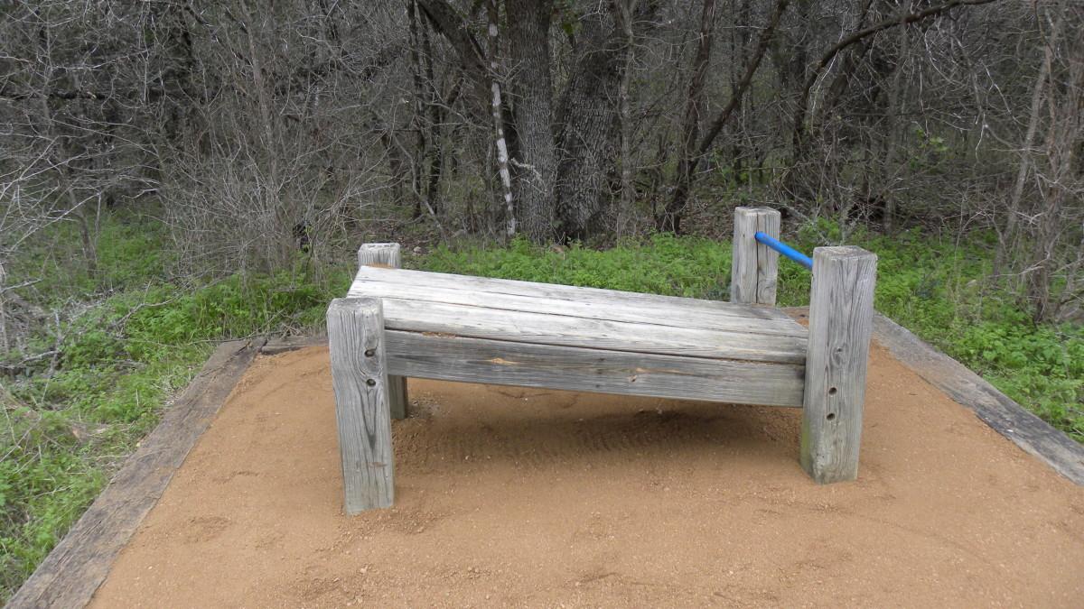 Latta Branch Greenbelt  Austin TX exercise stations