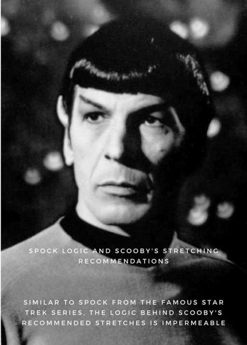 black and white photo of Spock - to showcase the logic behind stretching exercises to prevent back pain