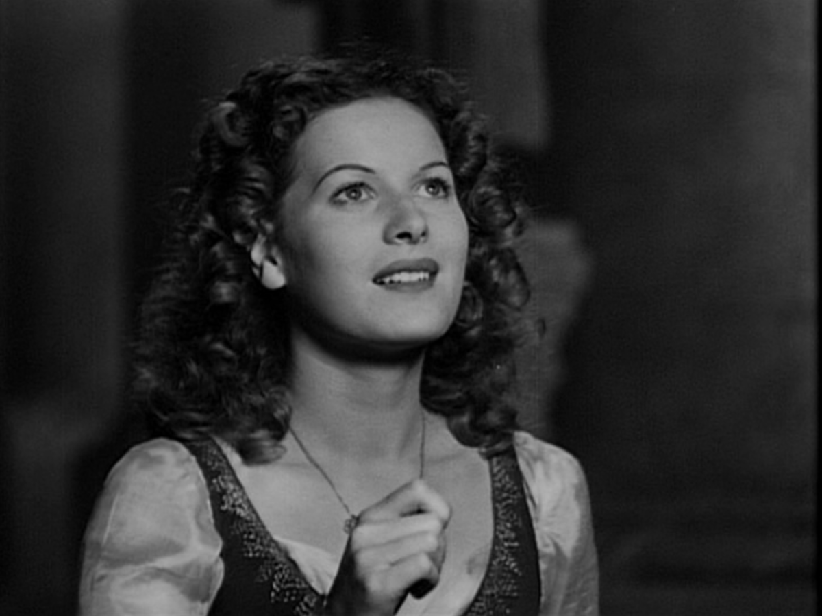 Maureen O'Hara as Esmeralda, 1939 Hunchback of Notre Dame