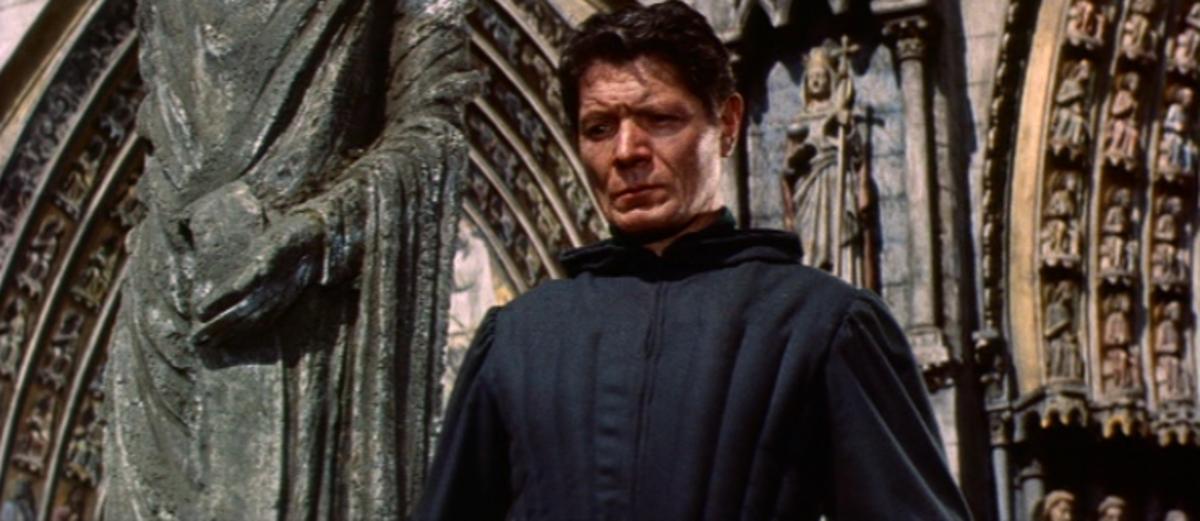 Alain Cuny as Frollo, 1956 Version