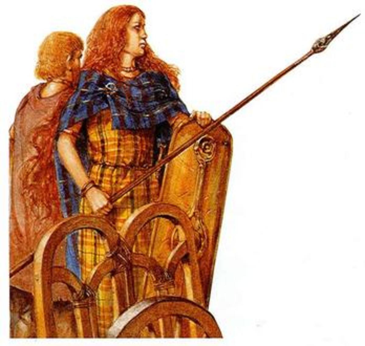 Boudica on her chariot
