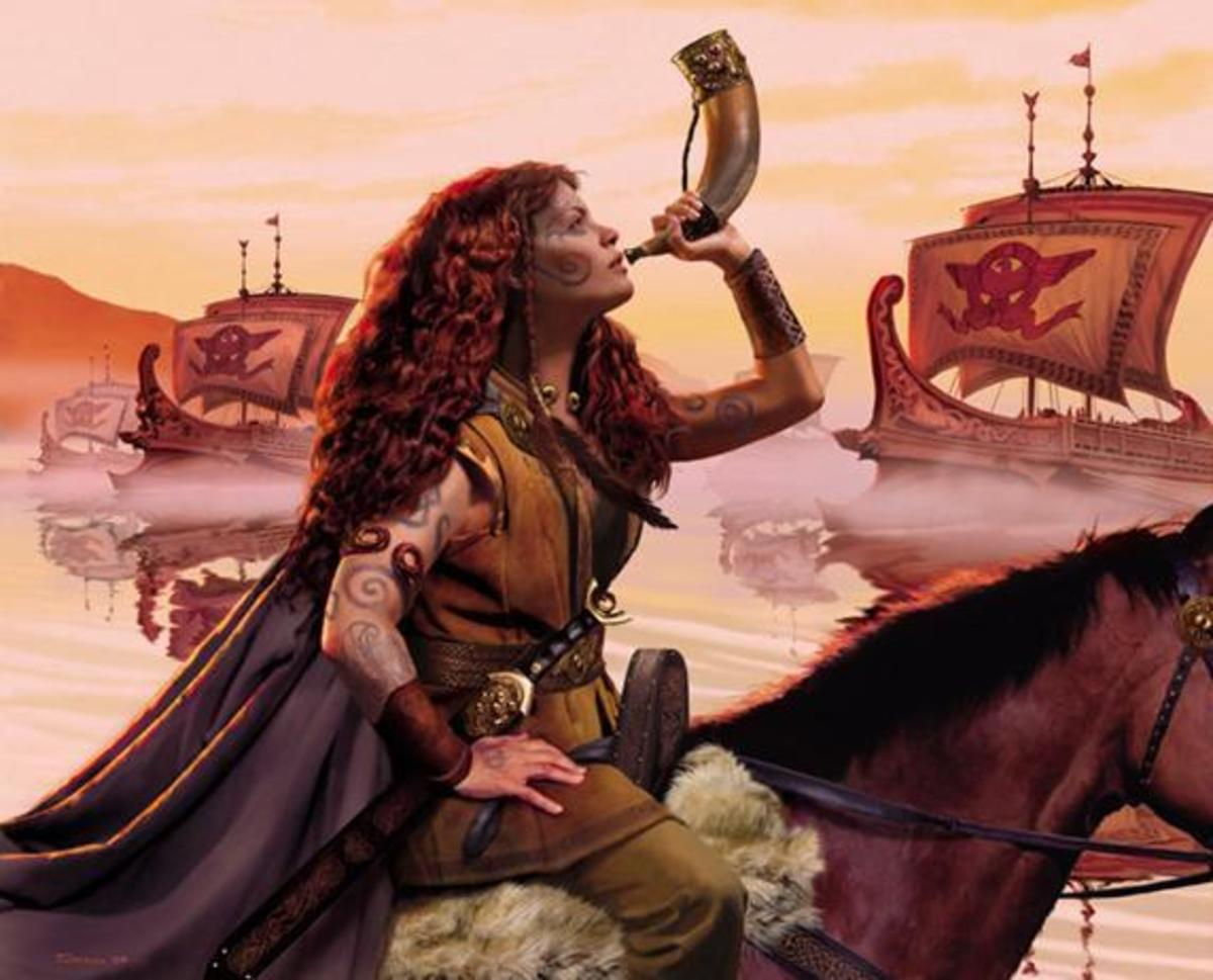 An artist's depiction of Boudica rallying the Celtic people from far and wide.