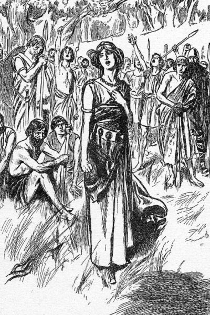 The tribal peoples of Britain were outraged at the treatment of Boudica and her daughters by the Romans.