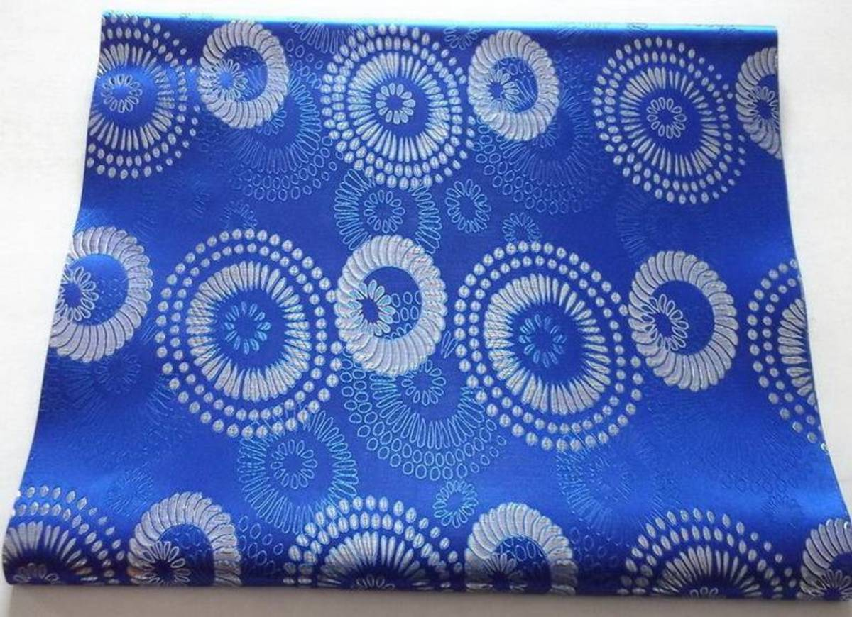 Blue colored Gele fabric