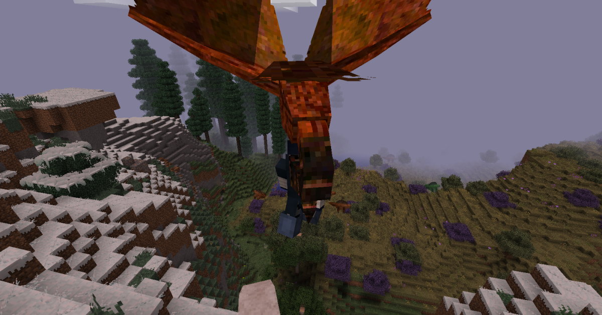 Players living near plains biomes will need to watch out for Rocs, massive birds that attempt to carry their prey high into the air before dropping them to the ground.
