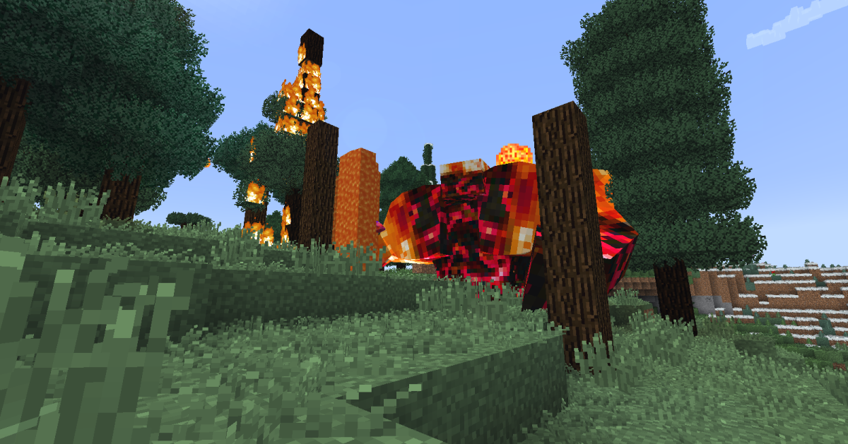 Few monsters can do as much damage to a forest as an umber lobber. Not only does this subspecies of the lava-dwelling lobber throw molten rock at the player, but it also launches balls of magma in random directions throughout the fight.