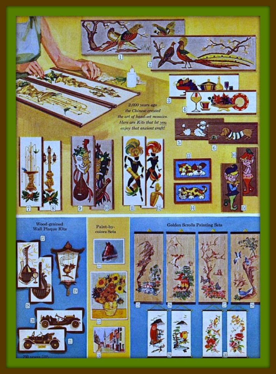It was 2,000 years ago that the Chinese created the art of hand set mosaics. Here are kits that let you enjoy that ancient craft.
