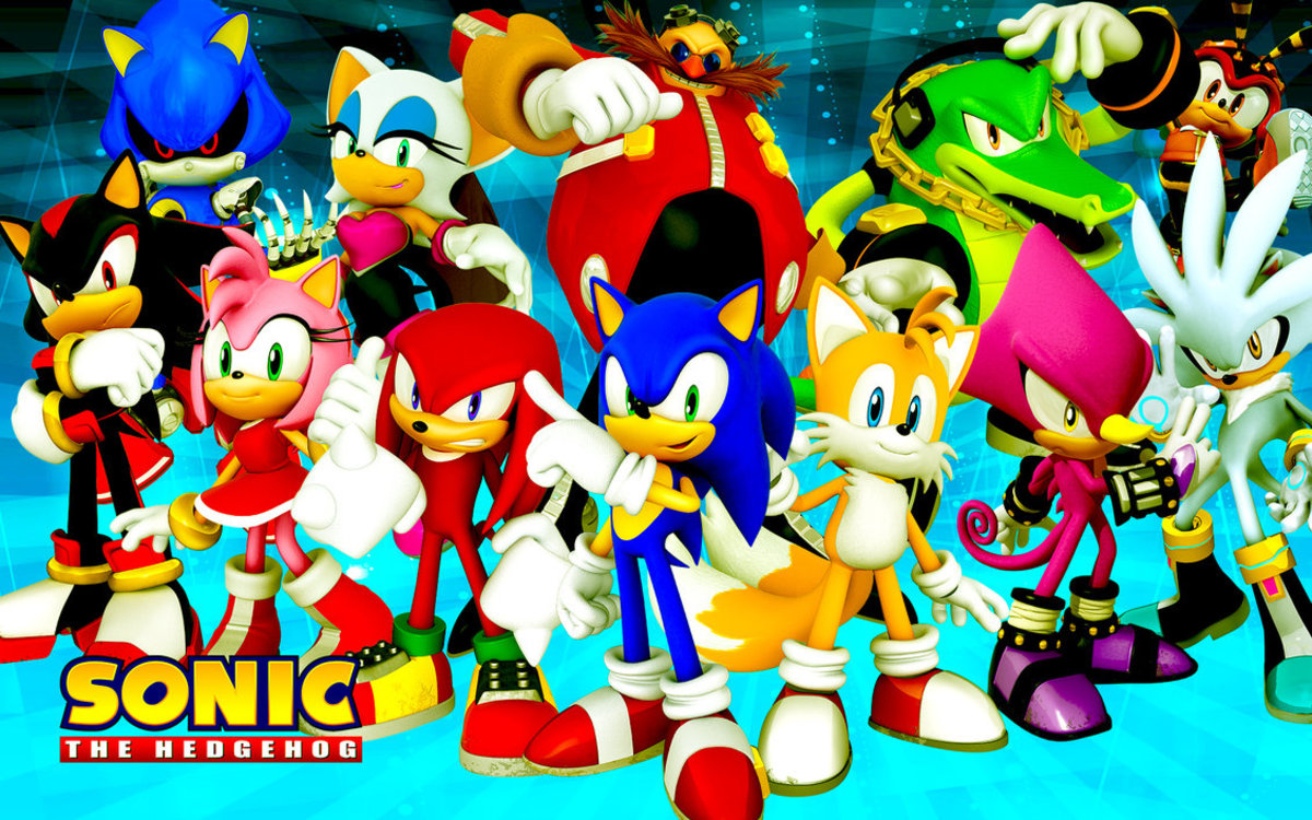 Main characters from the Sonic series