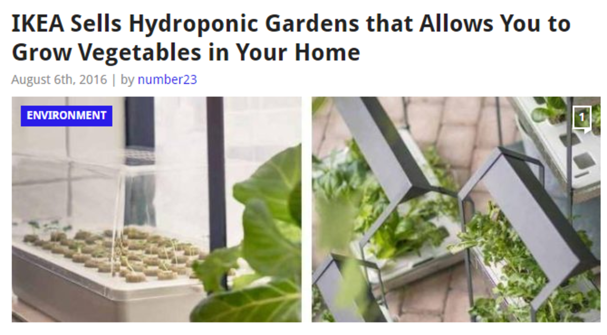 IKEA's indoor hydroponic gardens – ranging from one to three tier cultivation units – allowing you to grow vegetables in your very own kitchen without soil.