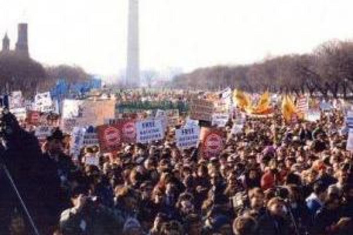 250,000 at Freedom Sunday for Soviet Jews Rally in Washington D.C. on December 7, 1987