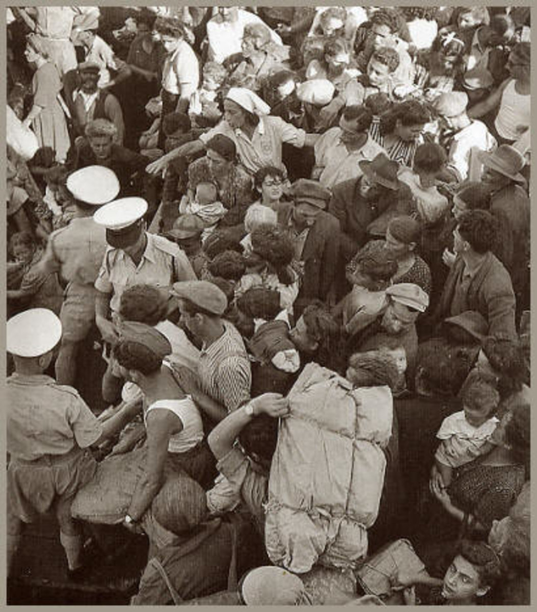 Displaced European Jews arrive in Israel, 1948