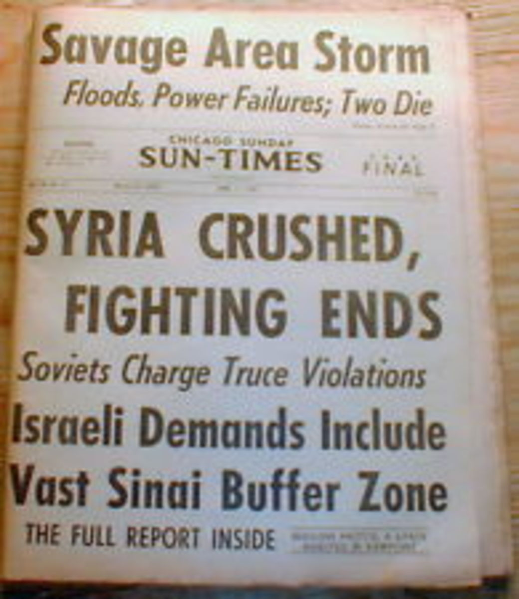 Israel Crushes Syrian Army Headline 1967