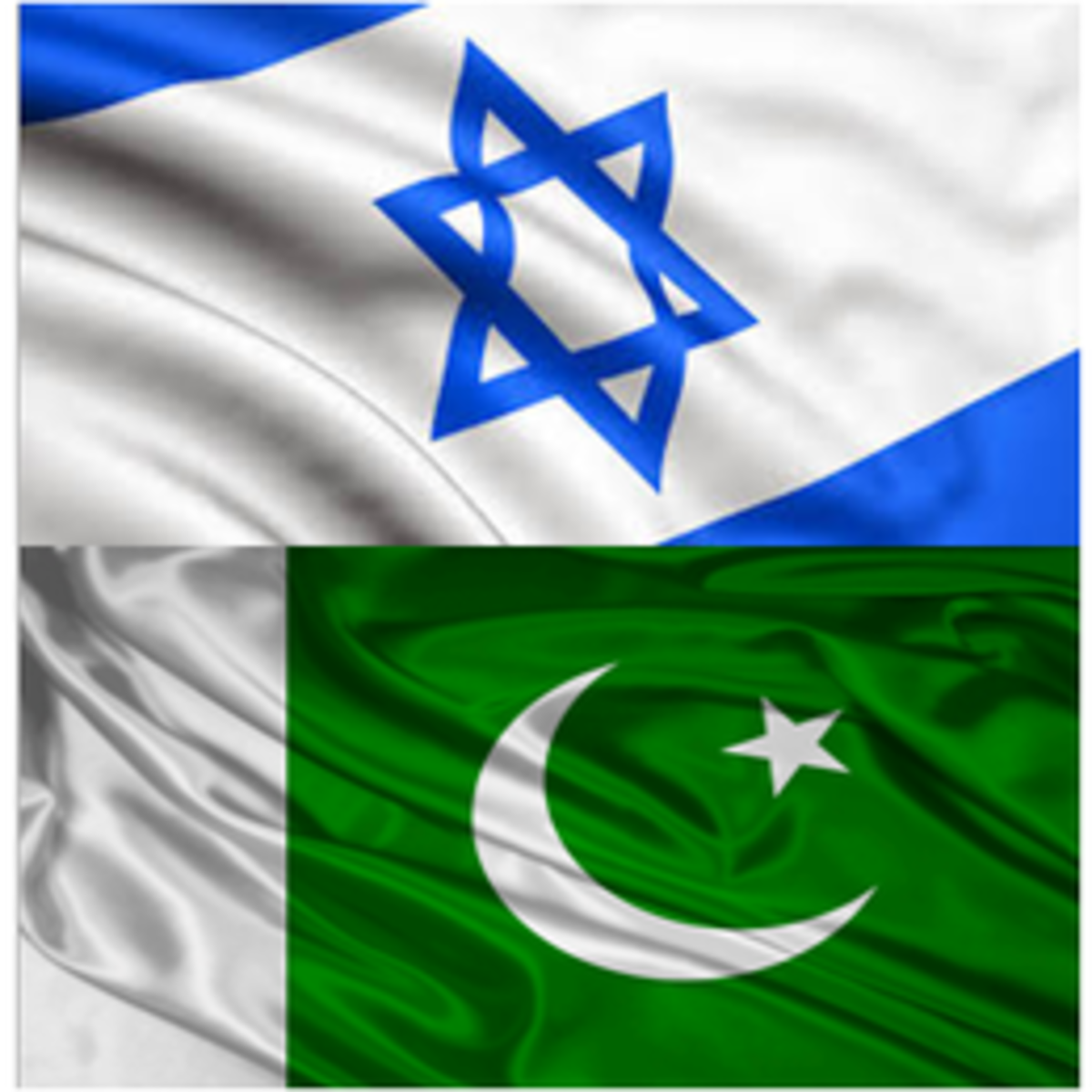 Israel and Pakistan Flags