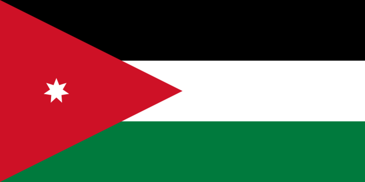 Flag of Hashemite Kingdom of Transjordan 1946