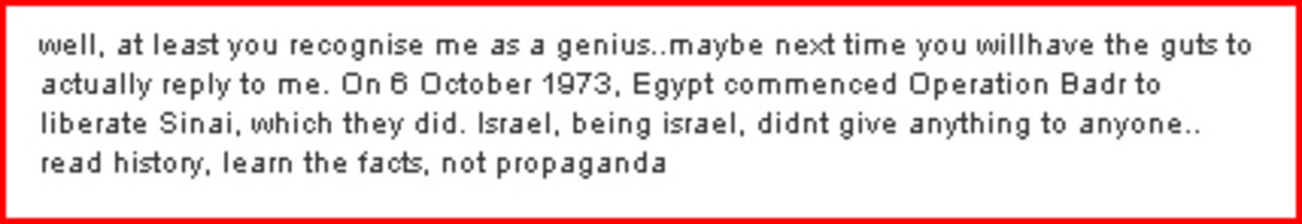 Erroneous Forum Post from Pakistan about Israel and 1973 Yom Kippur War