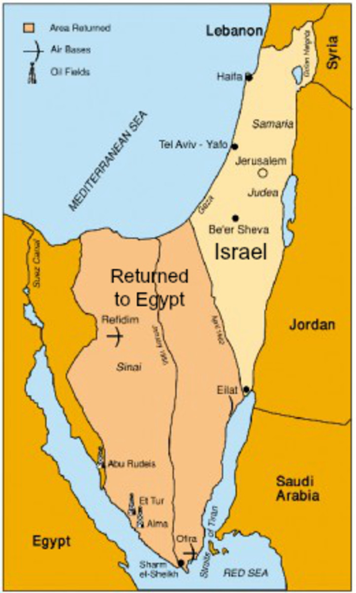 1979 Map of Israel