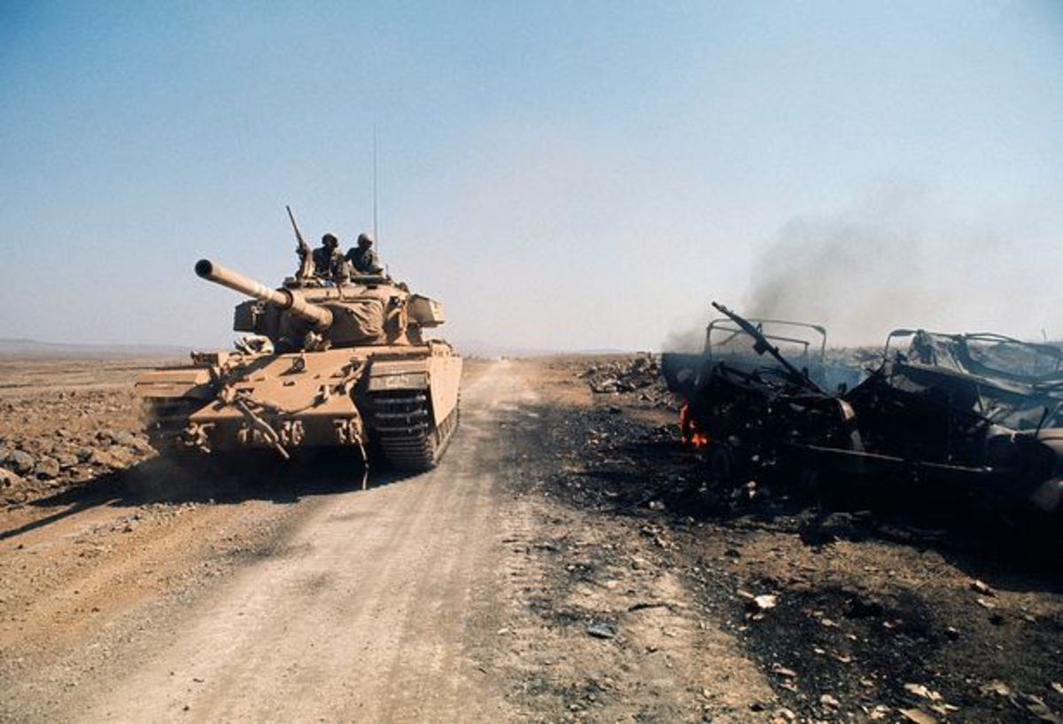 Israeli Centurion Tank on the Golan Heights, 1973