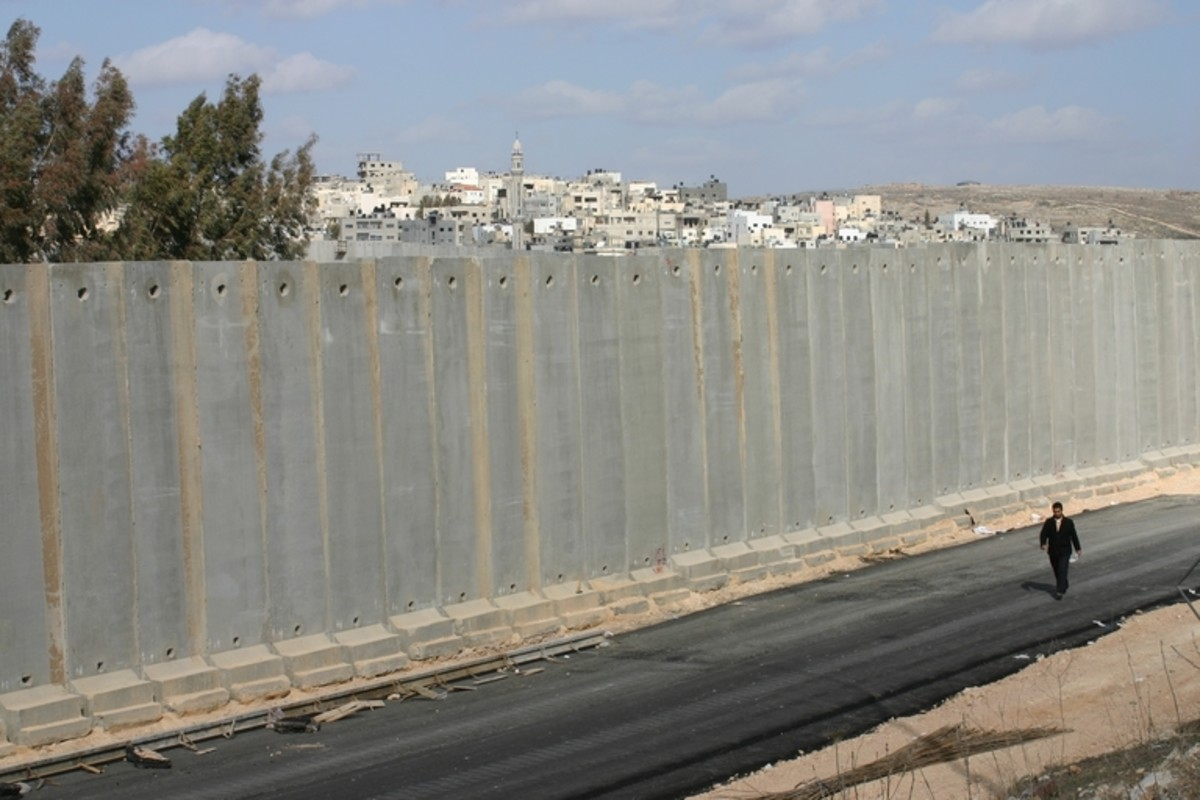Cement Security Fence against Terrorism in Israel