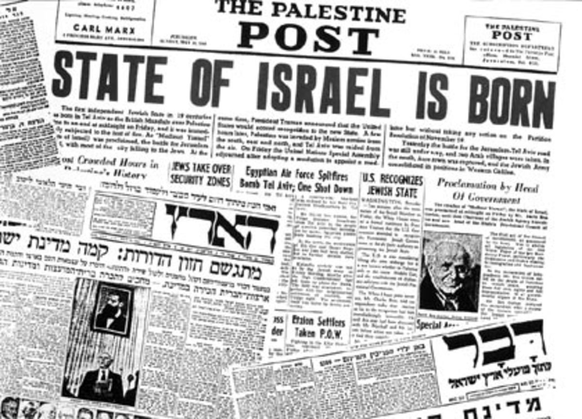 'State of Israel is Born' Jewish Newspaper Headlines, May 14, 1948