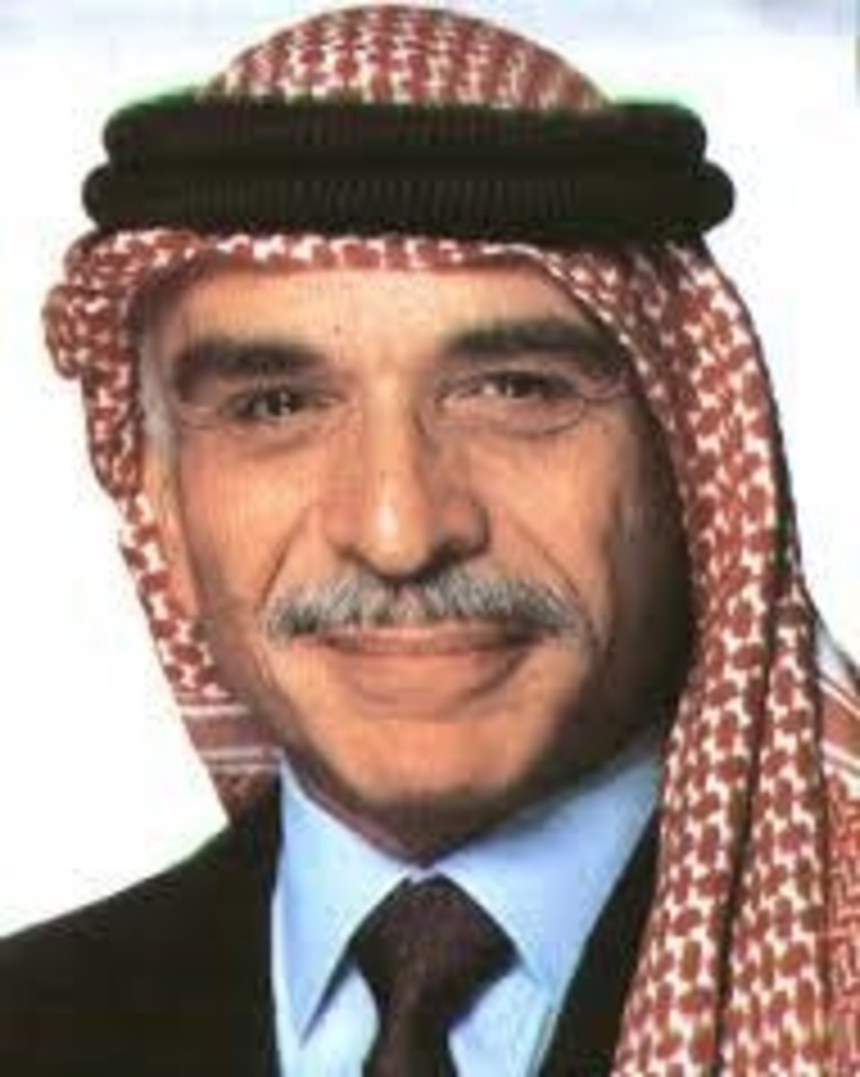 King of Jordan Hussein bin Talal, Reigned 1952 –  1999
