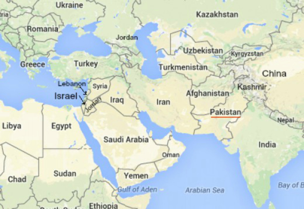 Map of Middle East and South Asia