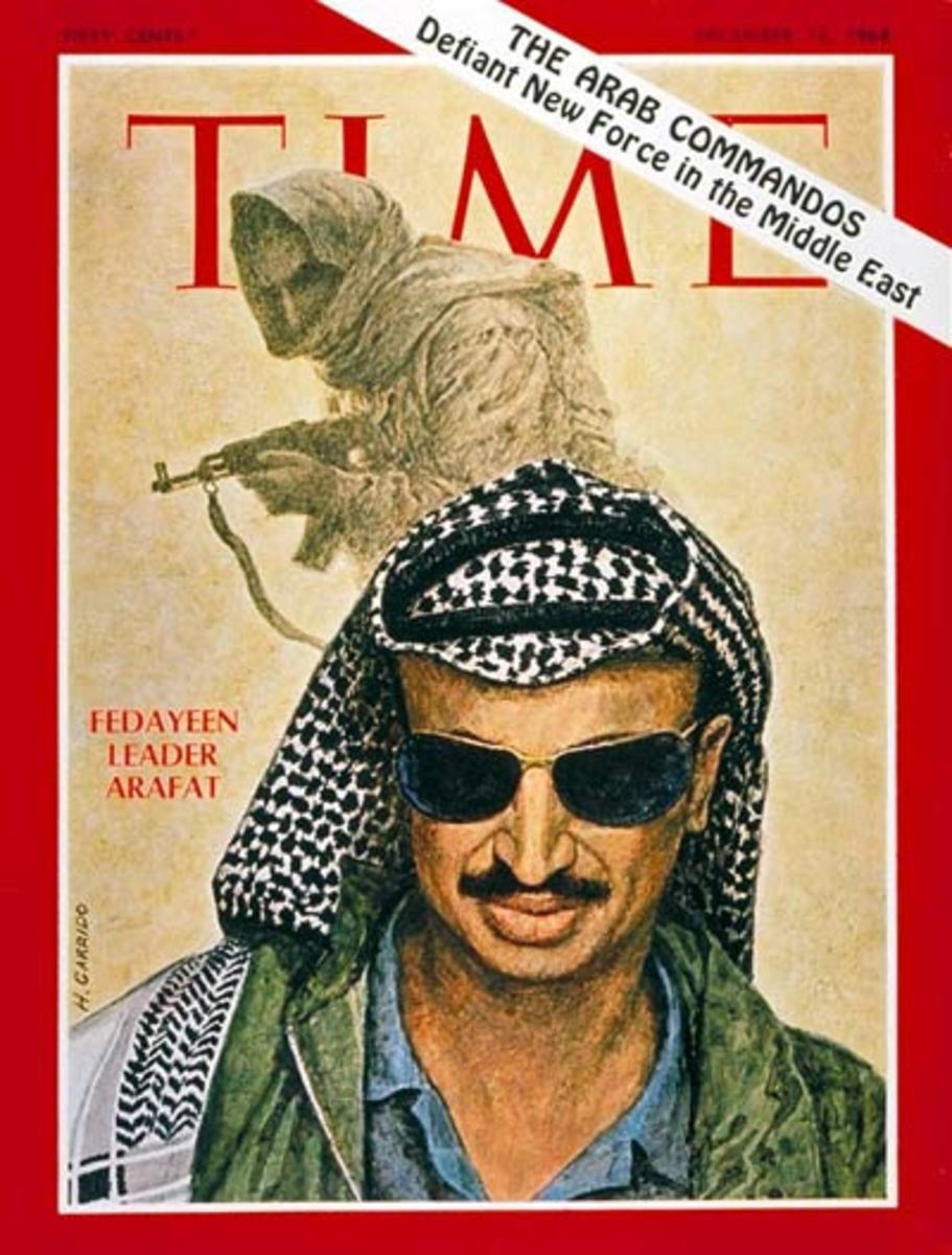 Yasser Arafat on Cover of Time Magazine December 13, 1968