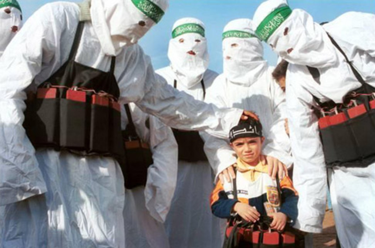 Hamas Suicide Bombers Training a Child in 2012