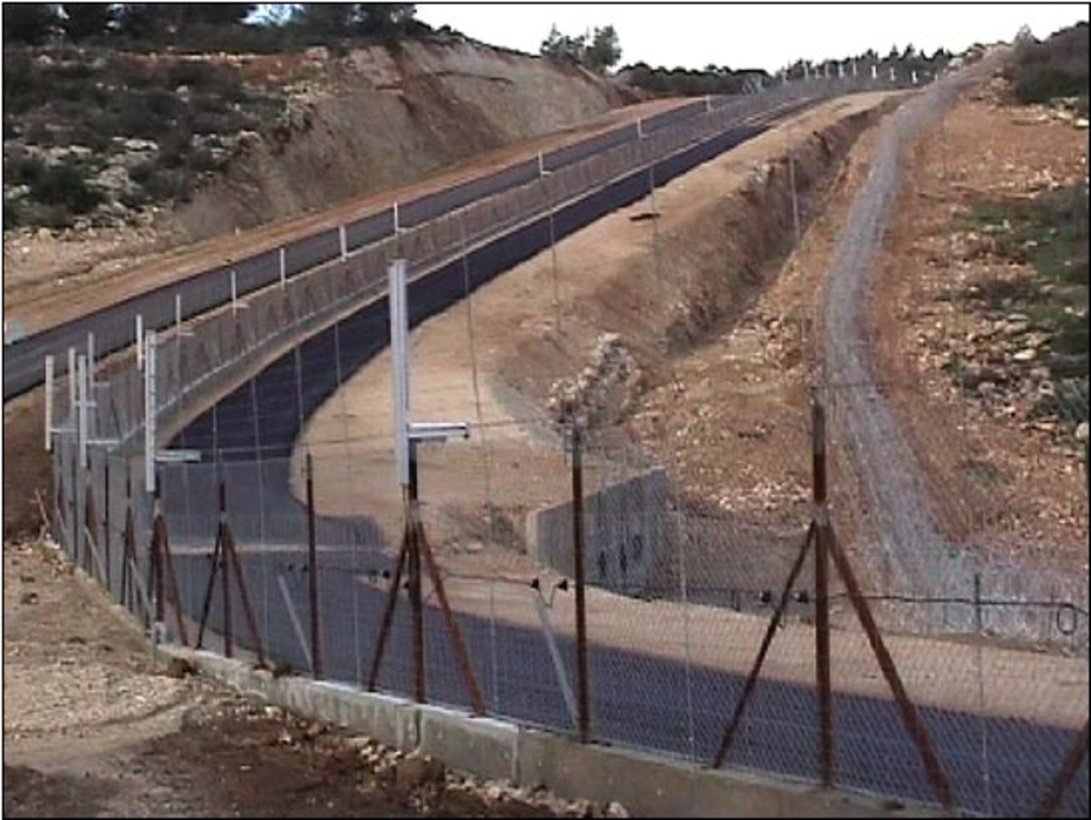 Wire Security Fence against Terrorism in Israel