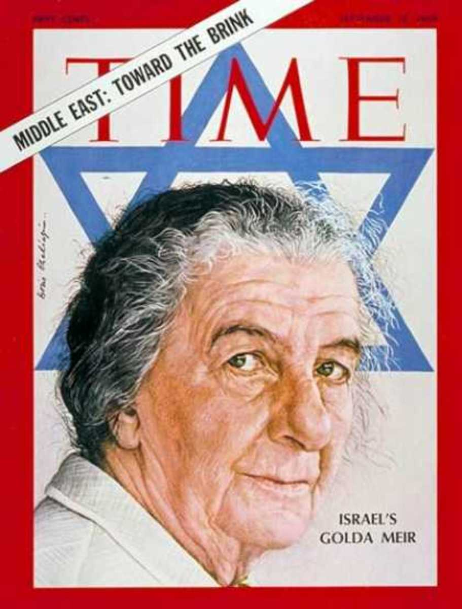 Israel Prime Minister Golda Meir on Time Magazine Cover, 1973