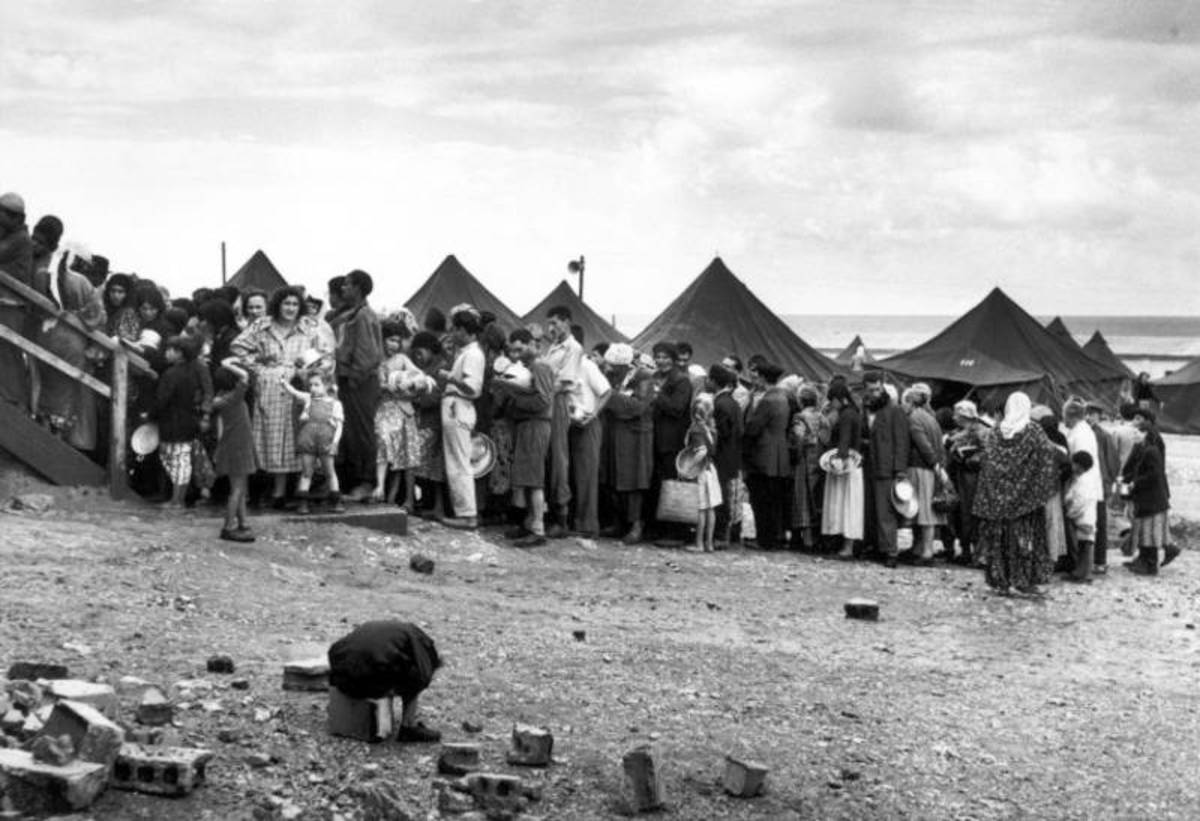 Jewish Refugees from Arab Lands in Tent Cities Near the Haifa Port, Israel, 1948