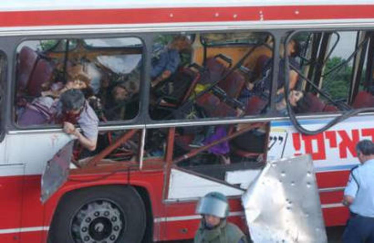 Suicide Bombing of Bus in Jerusalem, May 18, 2003, Killing Six Jewish and One Arab Passengers