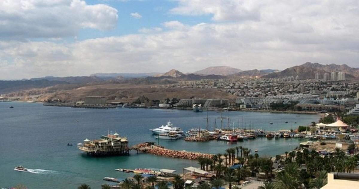 Red Sea Port of Eliat, Israel