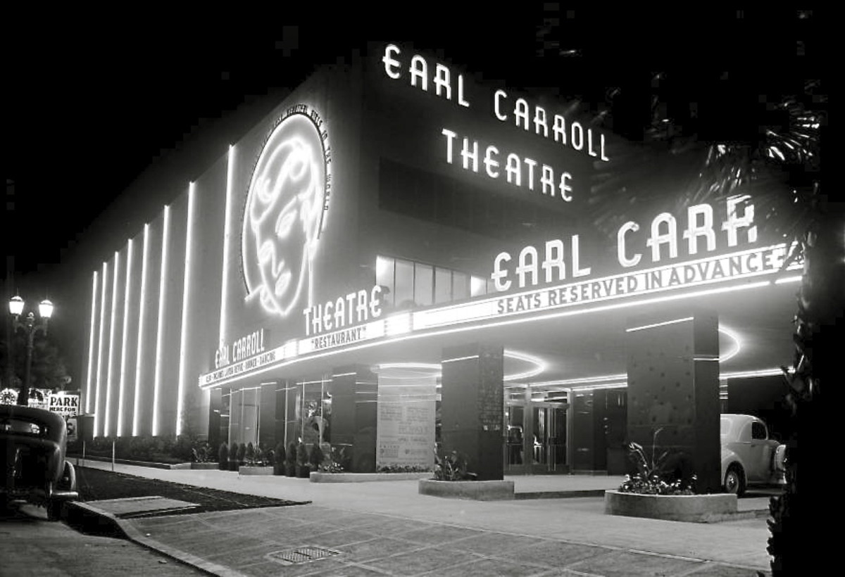 The Earl Carroll Theatre 6230 Sunset Boulevard, Hollywood 1940s
