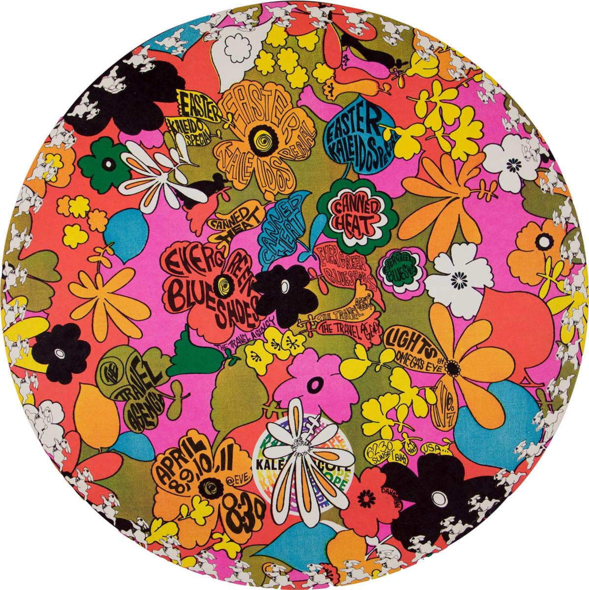 Canned Heat, Travel Agency, Evergreen Blue Shoes,  Kaleidoscope Concert Poster (1968) Poster #7 In Series, Art by Dick Dahlgren,